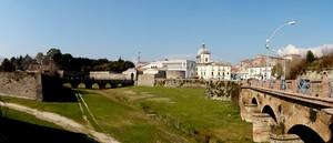 Ponti della cinta muraria di Capua visti dal lato di Porta Napoli