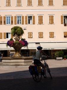 Turista in bicicletta