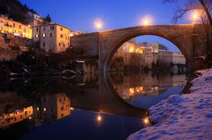 Ponte della Concordia con la neve