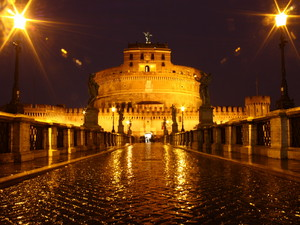 Ponte di Castel Sant'Angelo di notte