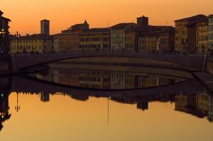 Ponte di Mezzo al tramonto