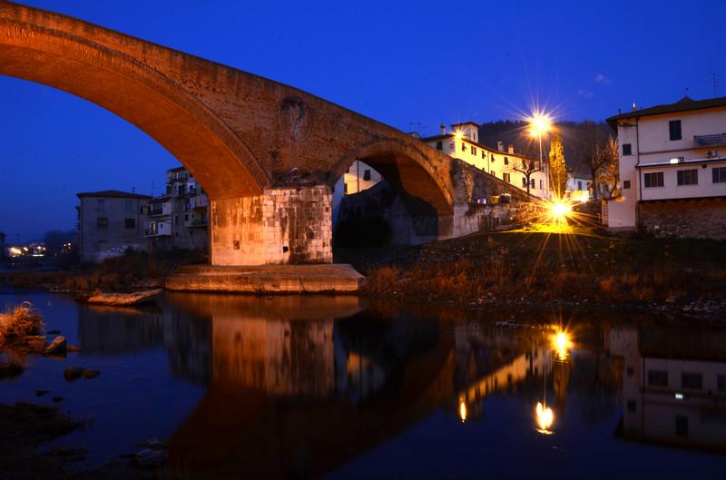 ''San Francesco e il ponte mediceo'' - Pelago
