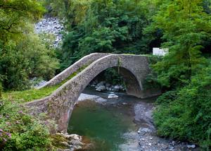 L'antico ponte medievale di Brembilla
