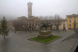 Nebbia in piazza