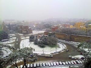 Porta S. Paolo sotto la neve…