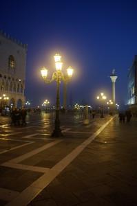 Venezia, Piazza San Marco verso il bacino, ogni sera è un incanto.