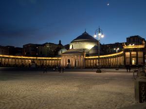 Piazza del Plebiscito, ora blu