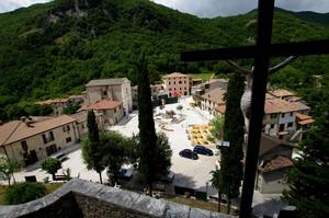La piazza del presepe di San Francesco