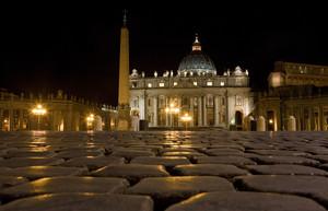 La piazza dei fedeli…