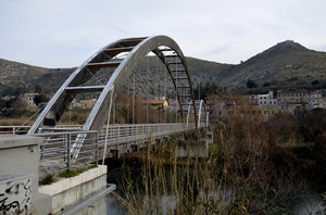 ponte pedonale sull'aniene