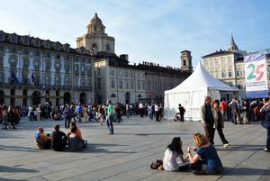 Piazza Castello in festa