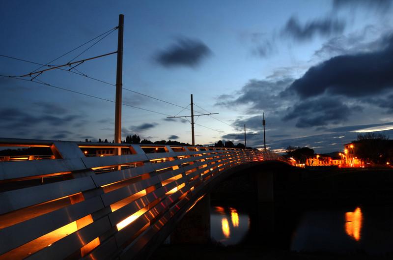 ''Il nuovo ponte della tramvia'' - Firenze