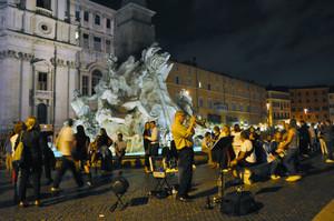 Una notturna Piazza Navona