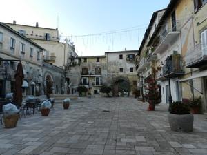 Piazza Vittorio Veneto d'inverno