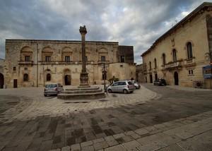 Piazza del Popolo e la Colonna dei quattro Evangelisti