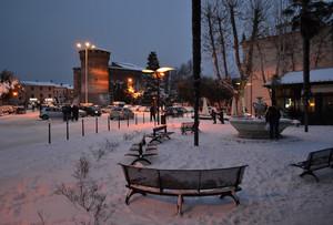 …sotto un manto di neve…