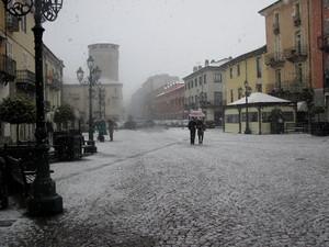 Fiocchi di neve in piazza