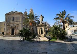 Cavallino(LE) Piazza Castello e la Chiesa SS Immacolata