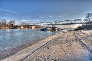 Ponte sul fiume Po _ Pontelagoscuro (Ferrara)_