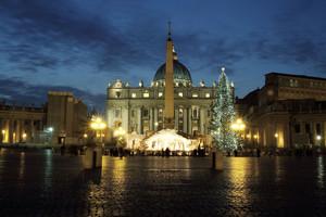 Piazza S.Pietro magia del Natale