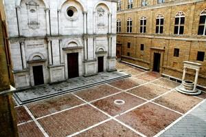 pienza piazza dell'utopia, Rosellino