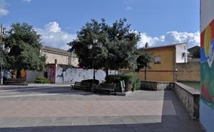 La piazzetta con i murales