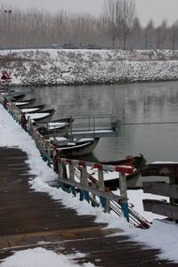 San Matteo – il ponte di barche sotto la neve