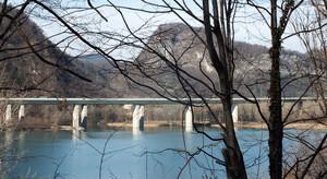 Bordano, ponte autostrada A23 su lago di Cavazzo