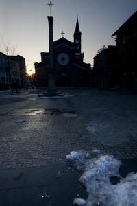 La piazza al tramonto