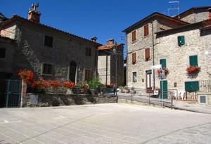 La piazza di Serravalle