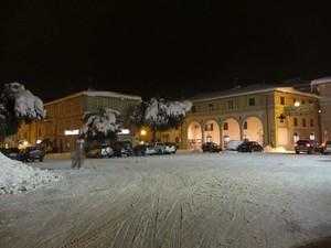 Piazza Garibaldi sotto La Neve del 12