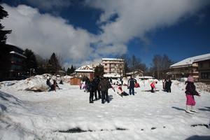 Piazza Mangeruca imbiancata di neve