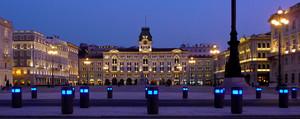 Piazza Unità d'Italia alla sera