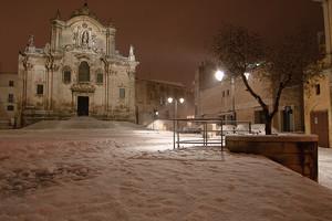 Nevicata su San Francesco