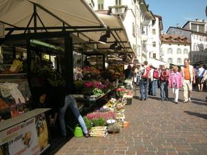 Bolzano, piazza del mercato