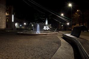 Piazzetta in notturna