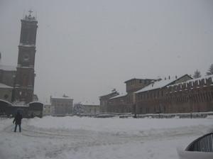 Piazza Castello in inverno