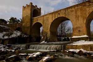La neve sul Ponte del Diavolo
