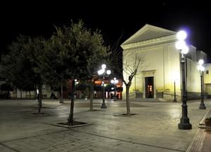 Piazza Paolo VI con la Chiesa Madre di San Leone vescovo