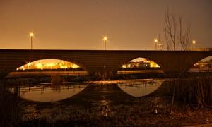 Ponte pedonale in parco Ottavi