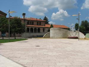 La piazza della città della giostra