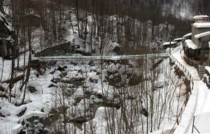 Ponte sul Lanterna per l'Alpe Brusada