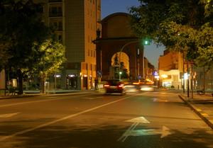 Piazza Matteotti nella notte
