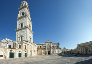 La piazza del duomo di Lecce