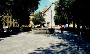 Di mattino in piazza Santo Spirito