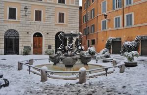 Roma in 'Bianco' Piazza Mattei