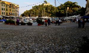 Pomeriggio in piazzetta a Portofino
