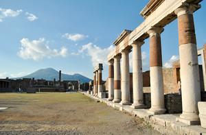 La piazza all'epoca di Roma