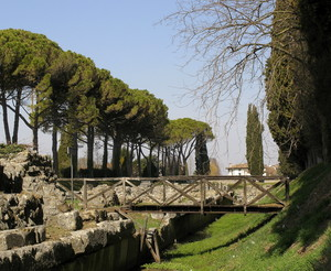 Ponte sul porto fluviale Romano