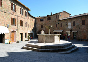 Piazza Umberto I a Panicale